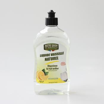 フランス生まれの食器用洗剤「メートル・サボン・ド・マルセイユ」。天然由来成分99.3%使用で、しつこい油汚れを落としながらも、お肌にやさしく肌荒れを防ぎます。