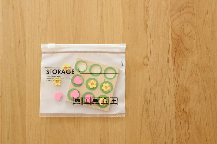 収納やポーチ代わりにも使える!便利でかわいい「ジッパーバッグ」
