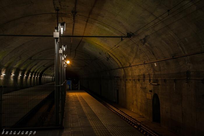 土合駅は、の上下線のホームに著しい高低差があるのは、新清水トンネル内に宮内駅へ向かう下りホームが設置されたためです。地下深くにある土合駅の下りホームで列車を待っているとモグラになったような気分を味わえるかもしれませんね。