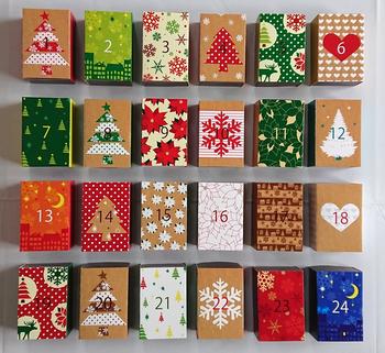 見ているだけでわくわくするようなデザインのアドベンドカレンダーキットです。紙をカットして、箱を折っていくだけなので簡単!全てデザインが違うので、クリスマスまで毎日飽きずに楽しめそうですね。