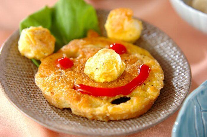 車麩やもち麩を卵液に浸し、フライパンで焼きます。麩は植物性タンパク質で、低カロリー・低脂質でミネラル豊富。ダイエット中にもぴったりです。