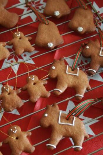 ドイツでは、レープクーヘンというシナモンなどの香辛料を練り込んだクッキーが昔からクリスマスに人気です。はちみつがたっぷり入っていて、そのぷっくりとしたフォルムもかわいらしい。日持ちのするクッキーなので、早めに作っておいて、クリスマスまで飾っておくのも◎お好みの型とアイシングで仕上げましょう♪