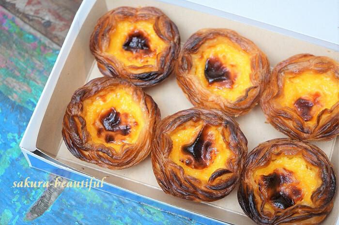 """本場の味を再現した""""玉子タルト""""が絶品!このほか、元祖ポルトガルのカステラ""""パン・デ・ロー""""など魅力的なメニューがたくさん◎お土産にもいいですね*"""