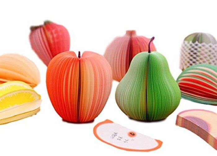 シェル・フォレスト フルーツメモ帳 立体 3D 盛り合わせ 網ネット付 10種類セット
