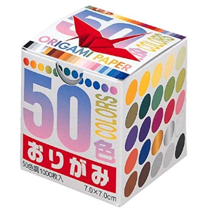 トーヨー 折り紙 50色おりがみ 7cm角 1000枚入 001024