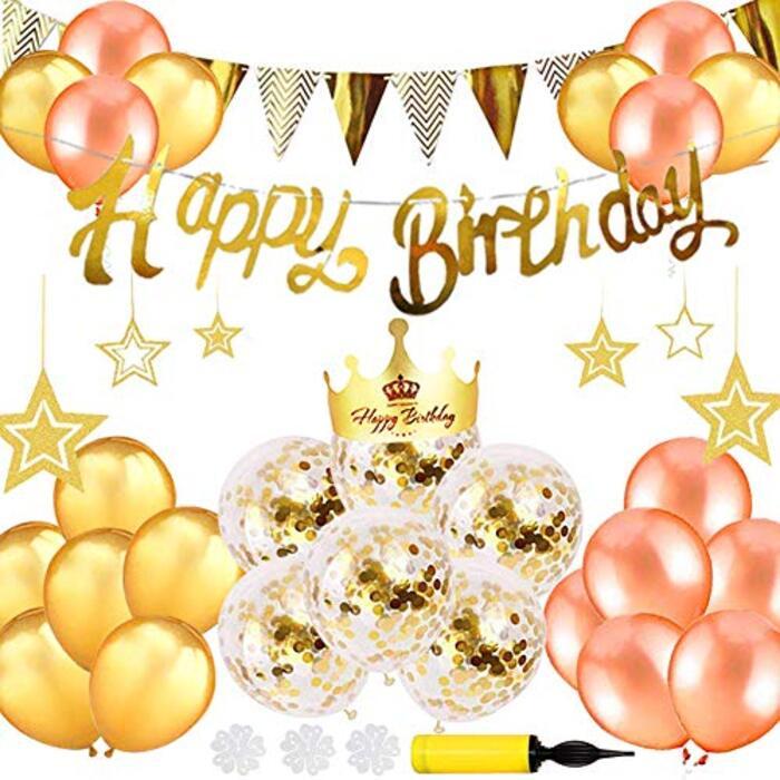 セット バルーン 風船 ゴールド HAPPY BIRTHDAY