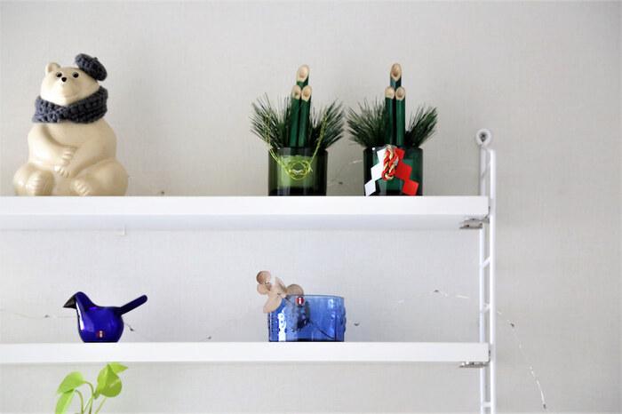どうしてもしっくりくるスペースがない時は、ウォールシェルフやスツールを取り入れて、季節飾り専用のスペースを作るのもいいですね。ウォールシェルフなら床にものが増えないので、スペースが限られているお部屋にも取り入れやすいのです!