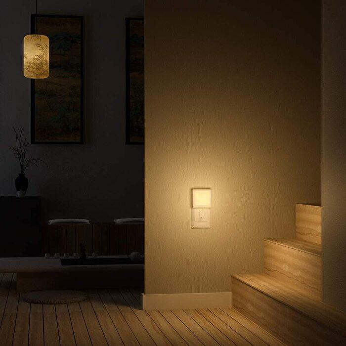 MAZTEK ナイトライト挿入式 LED足元灯 夜間センサー付き