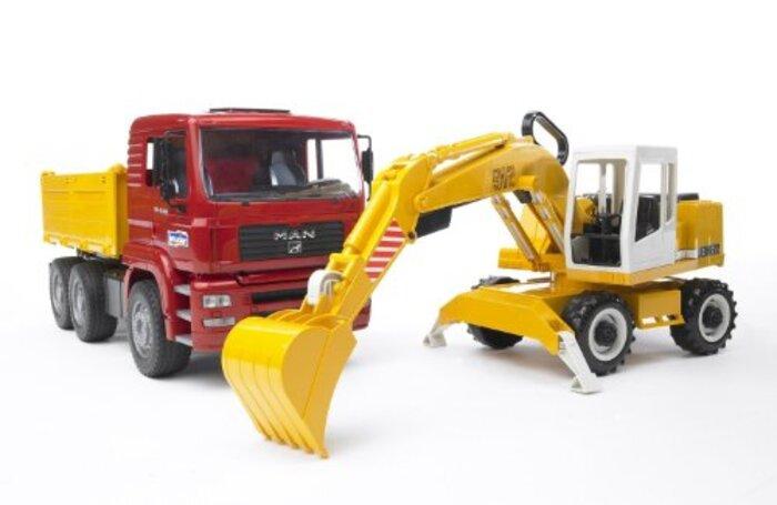 ブルーダー MAN トラック&LHショベル