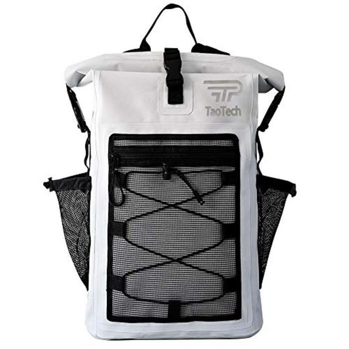 【TaoTech】 防水バッグ ドライバッグ  男女兼用 20L 25L 30L (30L, ホワイト)