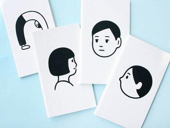 ゆるいイラストがじわじわくる、「Noritake(ノリタケ)」のノートブックは、コクヨの測量野帳「SKETCH BOOK」の別注アイテム。シンプルでおしゃれなデザインが、男性の友達へのプチギフトにぴったりです。