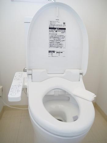 トイレも汚れを溜めないことが大切。自分が使ったタイミングで、トイレットペーパーに洗剤をスプレーしてサッと拭く習慣をつけましょう。気になるニオイの軽減にもなります。便器内はスプレー洗剤を吹きかけるだけでも汚れの防止に。