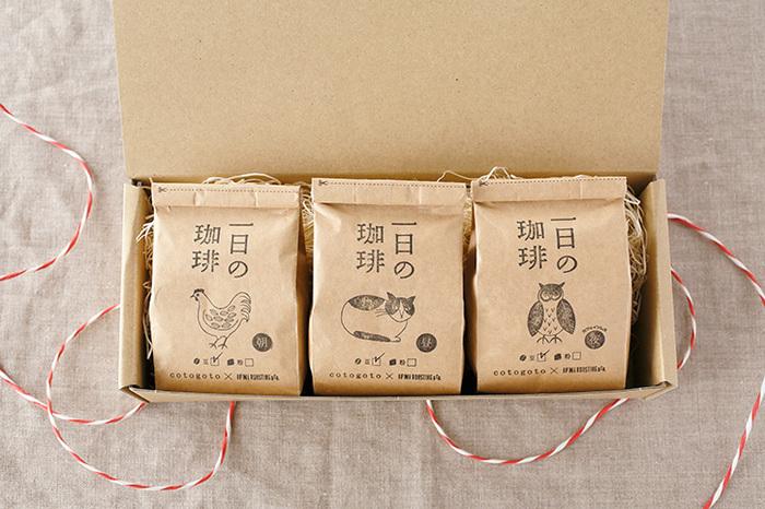 パッケージの絵はイラストレーターの松尾ミユキさんが手がけたもので、ほっこりとした動物たちに癒されます♪ちなみに夜はカフェインレスなので、寝る前でも気にせずに飲めそうです。