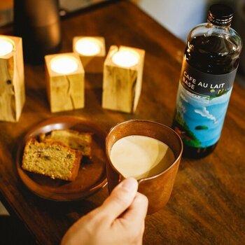 ノンカフェインというのも魅力。デカフェなので夜でも安心して飲めますし、妊婦さんもコーヒーを楽しめます。無糖タイプですが、微糖タイプ(カフェイン入り)もあります。