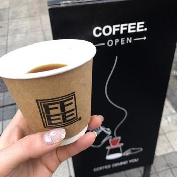 テイクアウトもできるので、美味しいコーヒーを片手に街ぶらしませんか?