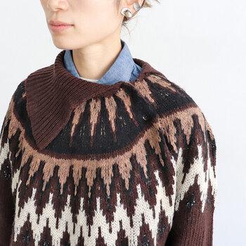 一目置かれる組み合わせ。「ブラウン×キレイ色」で作る冬の着こなし