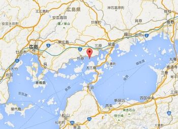瀬戸内海の島々を結ぶしまなみ海道から少し西にある、周囲約4kmの小さな島が「大久野島」です。
