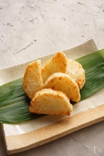 シンプルだからこそ、柚子胡椒の味を存分に楽しめる一品です。綺麗な揚げ色が付くと、食欲をそそられますね!揚げたてのホクホク感をお楽しみください♪