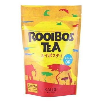 こちらも安心のカフェインゼロ・カロリーゼロ。南アフリカ共和国産のルイボス茶葉を使った、ルイボスティーのティーバッグです。カルディの店頭にも並んでいますよ。  「1.2g」×18袋入りで、持ち手が付いたティーバッグ仕様。マグカップがあれば、どこでもルイボスティーでほっと一息つけますよ♪