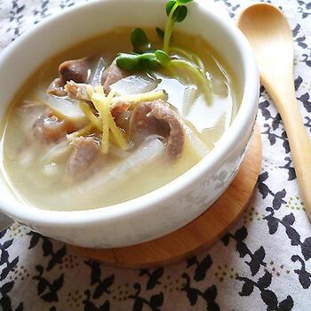 冬の季節にぴったりの砂肝スープ。生姜で身体がぽかぽか温まります。具材もたっぷりで、満足感があります♪