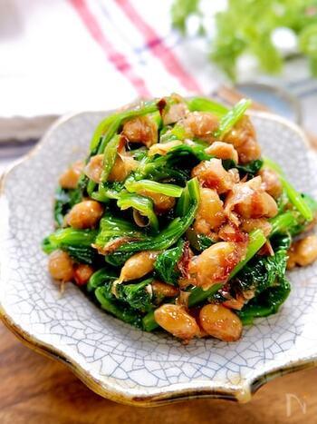 余りがちなパック入り納豆の活用レシピ。栄養価もバッチリで夕食の副菜にぴったりです。