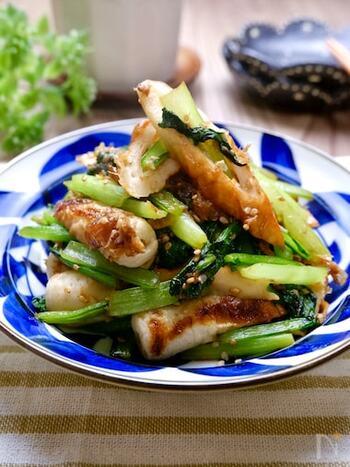 給料日前のお助け食材・ちくわを加えたレシピ。副菜やお弁当のおかず、おつまみとしておすすめです。