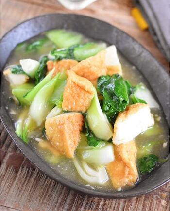 塩こうじと生姜の風味が効いたさっぱり食べられる一品。とろみのついたタレがよくからんで、とってもおいしい。