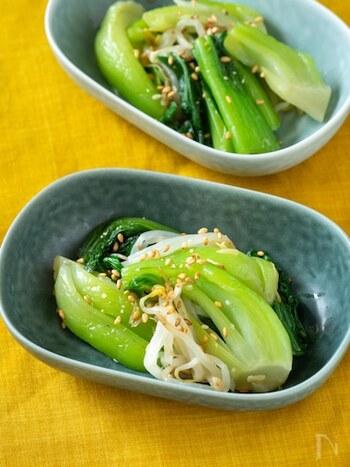 ほうれん草に小松菜、チンゲン菜【緑の葉物野菜】でつくる副菜レシピ