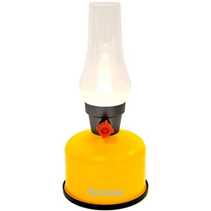 TINYSPARK 充電式LEDレトロランプ (イエロー)