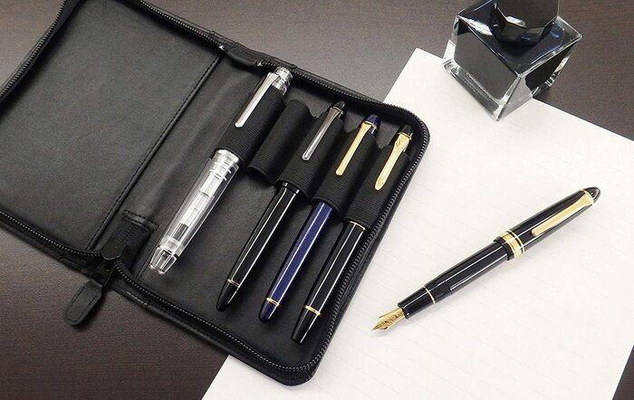 セーラー万年筆 ペンケース 万年筆用コレクションケース 5本用 チョコ