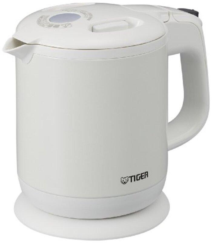 タイガー 電気ケトル 600ml パールホワイト 蒸気レス わく子 PCH-G060-WP