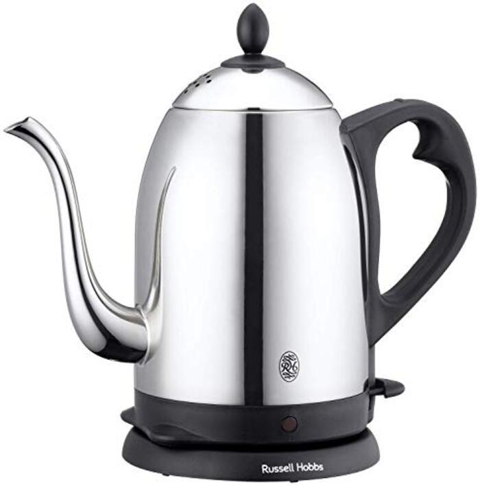 ラッセルホブス 電気ケトル コーヒー ステンレス ドリップ ポット 細口 1.2L 7412JP カバー付き