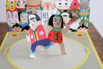 子供の頃は自分たちで作っていた、なんて方もいるのでは?トントン叩いて競う紙相撲は、大人も子供も盛り上がることができる遊びです。こんな可愛い金太郎デザインなら、見た目にも楽しいですね。
