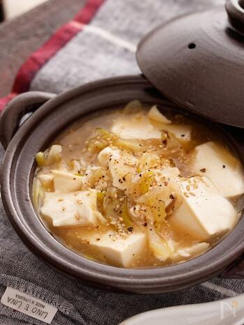 お豆腐がメインのシンプルなメニューも、ネギたっぷりのあんがからんで食べ応えは抜群。体がポカポカになって代謝も上がりそうですね。
