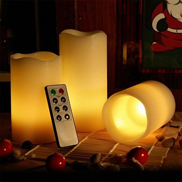 Kohree 本物の蝋 無火炎 無煙 LEDキャンドルライト