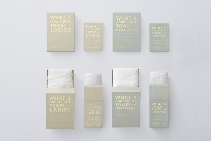 また、こちらのシリーズには男性用と女性用があるのもおもしろいところ。 男性用はゴシゴシとしっかり体を拭ける頼もしいつくりに。  女性用は、肌にあてるだけで水分を吸ってくれるような、柔らかくてやさしいつくりになっています。