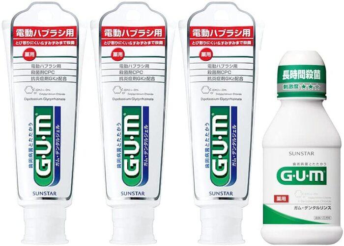 [医薬部外品] GUM(ガム) 電動ハブラシ用 デンタルジェル ハミガキ 65g