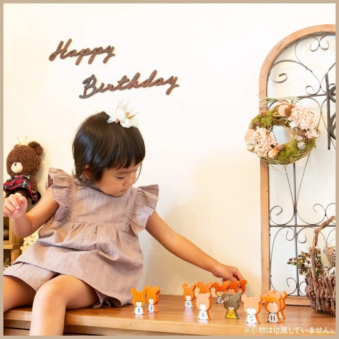 regalo ウッドガーランド レターバナー  HAPPY BIRTHDAY