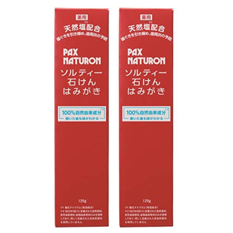PAX NATURON(パックスナチュロン) 【まとめ買い】 ソルティー石けんはみがき 120g×2個 924円(税込)
