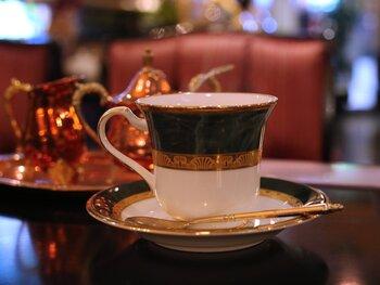 店名に巴里とあるのも頷ける、ヨーロピアンテイストのブレンドコーヒー。コクはあるものの苦味は控えめで、口当たり柔らかい。大きめのカップでいただけるので、ゆっくり味わいたいですね。