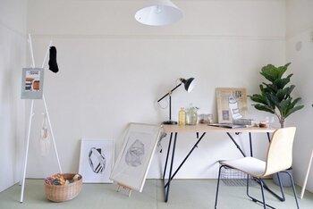 出来上がった作品を飾れば、いつもの和室もアートな空間に変身!こんな和ミックスインテリアなら、落ち着いてじっくりと創作活動に打ち込む事ができるでしょう。