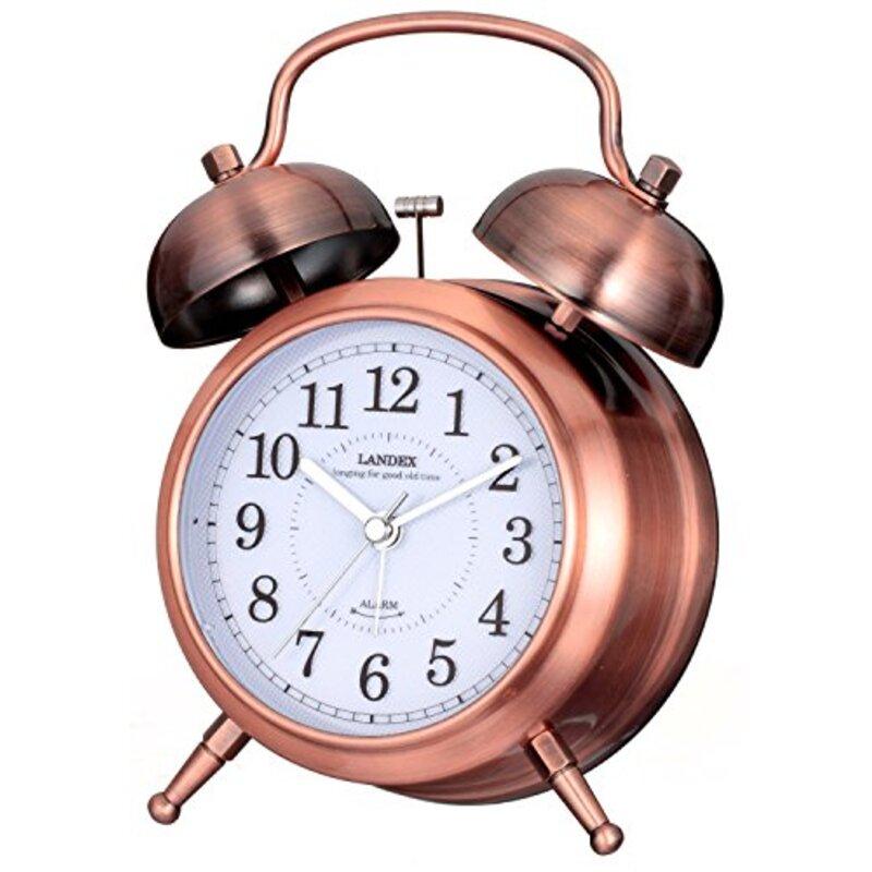 ランデックス(Landex) 目覚まし時計 アナログ カンパネラ 常時点灯 ブロンズ YT5230CO