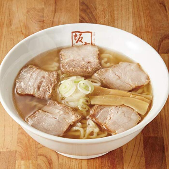 【 喜多方ラーメン坂内 】 生ラーメン 2食スライス焼豚セット 白巾着入り (スライス焼豚とメンマ付き) 生麺 チャーシュー