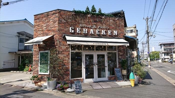 伏見の住宅街にある「ゲベッケン本店」。店名はドイツ語で「焼いたもの」という意味だそうです*こちらの本店の他、泉涌寺店、丹波橋店、近鉄竹田駅店があります。