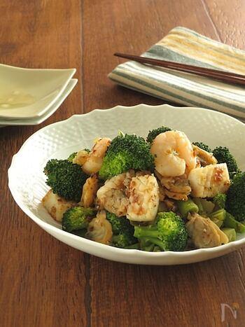 シーフードミックスを使ったお手軽レシピ。魚介の旨味がたっぷり詰まっています。うま味調味料を使うことで、臭みが取れておいしさアップ!冷めてもおいしいので、お弁当のおかずにおすすめです。