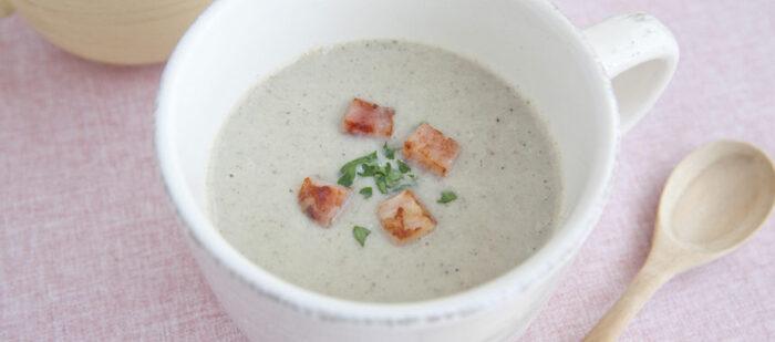 ポタージュなのにお味噌を使った、こっくりした味が優しくて美味しいスープ。さっぱりしがちの和食メニューの時のプラスの一品としてもおすすめです。