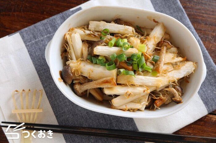 材料を和えてオーブンに入れるだけ。長芋のサクサク感が美味しいくて、食べ応えもある一皿です。山芋はもちろん、じゃこも入って栄養価も満点。