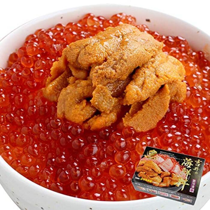 海鮮 うに いくら 丼 3~4人前(無添加うに 醤油漬けいくら 海鮮セット)