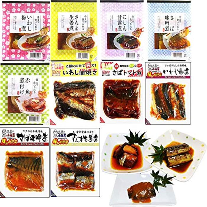 仙台漬魚 骨までふっくら炊きの煮魚10種10Pセット