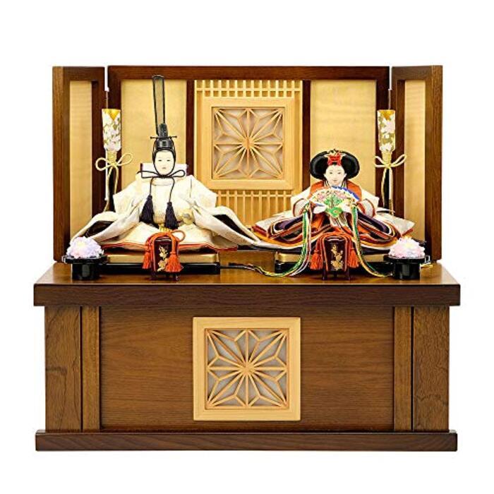 雛人形 大川組子 ひな人形 お祝い 収納式 親王飾り 二人飾り 2人飾り 収納飾り おしゃれ かわいい おしゃれ 可愛い コンパクト